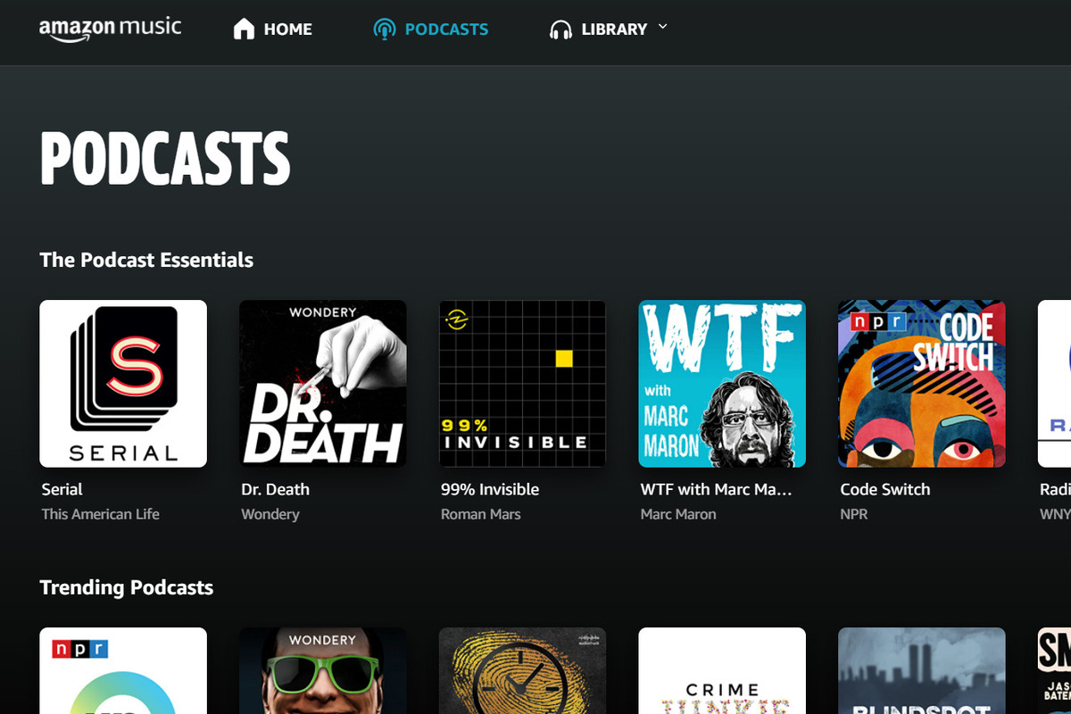 Amazon Music rolls out free podcasts, taking on Spotify